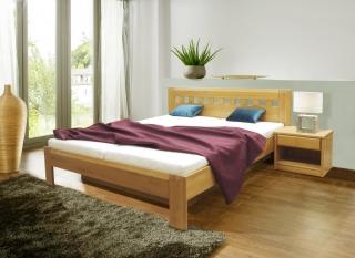 74f7e84d6376 Masívna manželská posteľ CVETANA 2 masív buk 180x200 cm s úložným priestorom